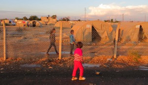 Refugee camp in Suruc (Turkey) near the border with Syria. Photo by Hristo Panchev